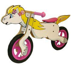 $ 89.99 CHILD WOODEN BALANCE BIKE - HORSE One for Katie