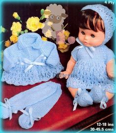 PDF Knitting Pattern   Pretty Baby Dolls by TheKnittingSheep
