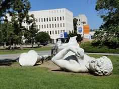 Statue of David, courtesy of an earthquake, at Cal State Fullerton by jwtca, via Flickr CSUF