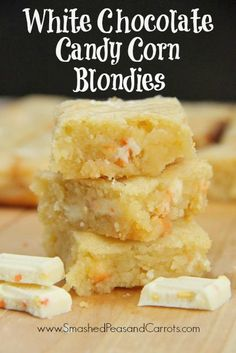 ... Corn Blondies made with Hershey's Candy Corn Bars for you next
