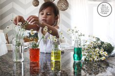 Coloring Flowers with Kids-AND ITS SCIENCE!