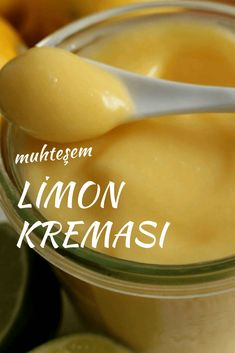 Limon Kreması ( Lemon Curd ) - Nefis Yemek Tarifleri - Lemon Cream (Lemon Curd) # Limonkr OF THE the the the Köstliche Desserts, Delicious Desserts, Dessert Recipes, Yummy Food, Quark Recipes, Cookie Recipes, Lemon Recipes, Yummy Recipes, Cream Lemon