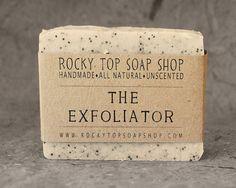 The Exfoliator - Scrub Soap, Exfoliating Soap Bar - All Natural Soap, Handmade Soap, Unscented Soap, Cold Process Soap, Vegan Soap