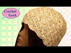 How to make a Crochet Shell Beanie Crochet Geek - YouTube