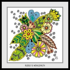 #Ausmalbild I #adult coloring pages #zendoodle #zentangle #lineart #creativ #kreativ #hand drawn Flowers #flower Elements #zenart #art #free doodle art Zen Doodle, Doodle Art, Doodles Zentangles, Zen Art, Tangled, Coloring Pages, Drawings, Drawing Ideas, Creative