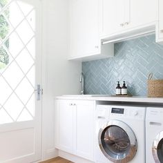 "37 Likes, 6 Comments - Kasey Jacobs (@hamptons_on_the_hill) on Instagram: ""How beautiful is this laundry by @donna_guyler_design I must admit when building my home I never…"""