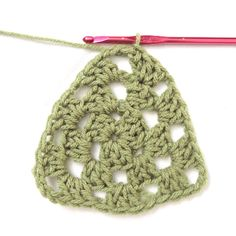 How to #Crochet a Granny Triangle in the Round via @Crochet Today