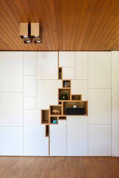 """© Design Filip Janssens, all rights reserved Interior Architecture, Interior And Exterior, Interior Design, Wall Design, House Design, Home Furniture, Furniture Design, Muebles Living, Living Room Storage"