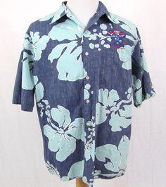 Reyn Spooner NFL Shirt XL 2002 Pro Bowl All Star Football Hawaiian Reverse Print #ReynSpooner #Hawaiian