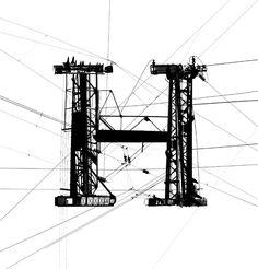 Garamond Powerlines, by Daniel Adolph