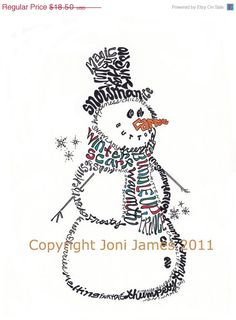 Hey, I found this really awesome Etsy listing at https://www.etsy.com/listing/84074327/sale-christmas-winter-snowman-word-art