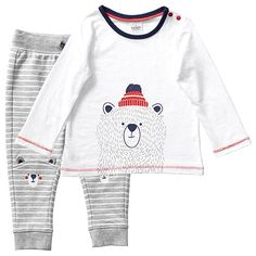 Baby Long Sleeve Bear T-Shirt And Trackpants Set