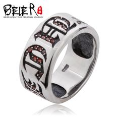 Beier 100% 925 silver sterling ring high polish  for women/men  punk Fashion Jewelry   D0449