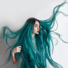 This hair is inspired by nature! The most charming color of nature, green hair is at your fingertips! We really like the trend of green hair colors inspired by the. Fantasy Hair, Fantasy Makeup, Hair Dye Colors, Pinterest Hair, Coloured Hair, Dye My Hair, Synthetic Lace Front Wigs, Synthetic Wigs, Grunge Hair
