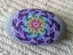 Pretty painted stone by Diana Ling