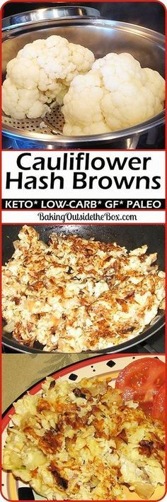 Low-Carb cauliflower hash. This cauliflower recipe is so good, so easy, and so low carb, that you will find them irresistible. Great for Atkins, keto, and other low carb diets. Paleo option too!