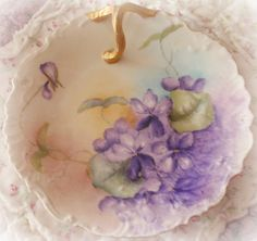 Vintage china with hand painted violets