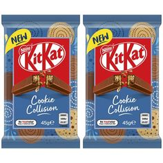 """CandyHunting on Instagram: """"Australians, this one is for you! @neko_snacks reported the new Cookie Collision Kit Kat is up now on Cole's website! These Kit Kats have a…"""" Kit Kat Cookies, Kit Kat Flavors, Neko, Snacks, Candyland, Website, Instagram, Gift, Appetizers"""