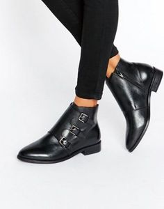 ASOS ALTAIR Leather Ankle Boots