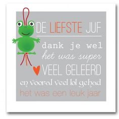 Kaartje vol Geluk! | Gelukskaartje | cadeaukaartje | voor de liefste juf Teacher Appreciation Gifts, Teacher Gifts, Homemade Gifts, Diy Gifts, Thank You Cards, Cardmaking, Words, Quotes, Crafts