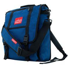 Manhattan Portage Commuter Laptop Bag with Back Zipper - Navy Backpacks Messenger Backpack, Laptop Backpack, 17 Laptop, Shoulder Pads, Shoulder Strap, Manhattan Portage, Luggage Store, Dress With Sneakers, Unisex Baby
