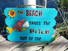 New signs at Fort MYERS beach shrimp fest this weekend. My friend makes these!