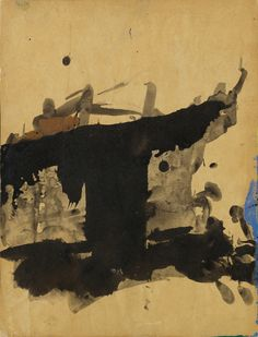 Franz Kline Untitled, 1955 ink and gouache on paper laid down on board 137/8 by 105/8 in.