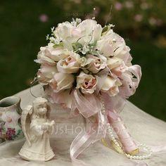 Wedding Flowers - $19.99 - Delicate Round Satin Bridal Bouquets (124032097) http://jjshouse.com/Delicate-Round-Satin-Bridal-Bouquets-124032097-g32097/?utm_source=crtrem&utm_campaign=crtrem_AU_26935