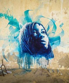 Streetart as part of the djerbahood project in Erriadh. I like the background brushstrokes.