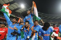 """""""Sachin Tendulkar has carried Indian cricket on his shoulders for 21 years. So it was fitting that we carried him on our shoulders after this win!"""" ~ Virat Kohli said after India beat Sri Lanka (by 6 wickets) and WON the 10th ICC Cricket World Cup on 2nd April 2011!! Historical moment for fans of the """"Little Master"""" & Indian Cricket all over the world :-)"""