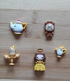 Beauty and the Beast Needle Minder Set of 5 Fimo Kawaii, Polymer Clay Kawaii, Fimo Clay, Polymer Clay Charms, Polymer Clay Projects, Clay Crafts, Polymer Clay Jewelry, Polymer Clay Creations, Clay Earrings