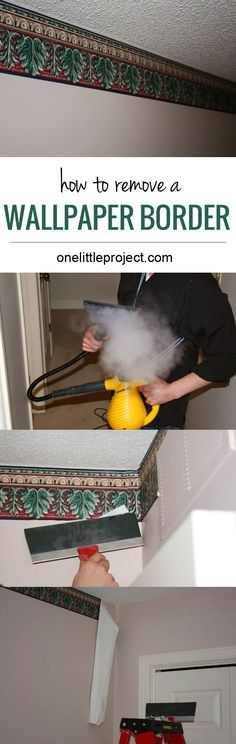 Hide your water shut off valve the house of smiths home for Home wallpaper removal tips