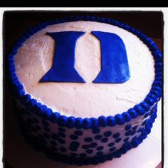 Duke Blue Devils cake hmm...my bday is 2/26 for those who would like to make this for me.