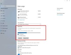 How to Set Data Usage Limits in Windows