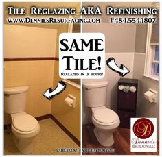 How To Refinish Ceramic Tile Pinterest Kitchens Easy And Paint - Resurfacing bathroom tiles