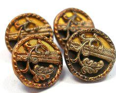 Austrian,1800s Victorian metal buttons.