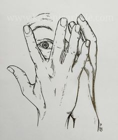 Day 13: Scared. Study of hands copyright 2016 Karen Carlisle 31 Day Challenge, Carlisle, Inktober, Study, Hands, Drawings, Studio, Sketches, Studying