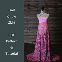 Half Circle Skirt Tutorial PDF. DIY Maternity by ChelseaCDesigns