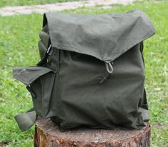 Military Bag  Canvas Messenger Bag  Vintage Crossbody by NarMag