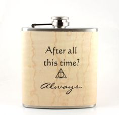 Harry Potter flask wood gift Rickman Snape by Wickensnuffers