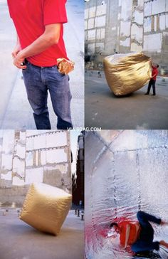 A foldable, self-inflatable house that can fit in your pocket. Camping Survival, Emergency Preparedness, Survival Tips, Survival Skills, Survival Quotes, Emergency Shelters, Emergency House, Survival Videos, Cool Stuff