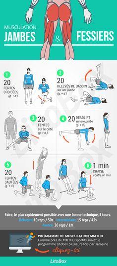Programme de musculation pour les jambes et fessiers sans matériel
