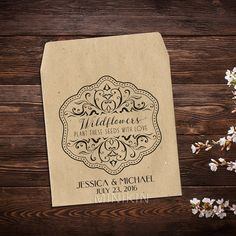 Wedding Seed Packets Personalized Favors Wildflower Seed