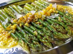 Asparagus with Orange Sauce French food