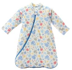 Missfly Baby Sleeping Bag With Detachable Sleeves Winter Thickened Blue Robot Slength