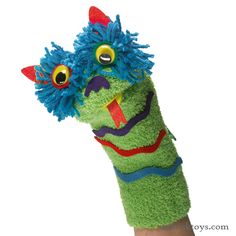 My First Sock Puppets.at Kids Collection.No glue needed. Sock Puppets, Hand Puppets, Craft Activities For Kids, Crafts For Kids, Craft Ideas, Cub Scout Skits, Arts And Crafts Kits, Monster Under The Bed, Puppets For Kids