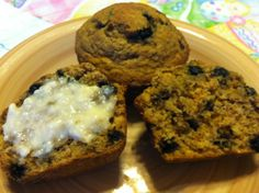 vegan lemon & chia seed blueberry muffin