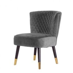 Hvilestol i grå velour Accent Chairs, Stone, Furniture, Home Decor, Upholstered Chairs, Rock, Decoration Home, Room Decor, Stones