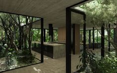 Angular Walls and Corners to Make Trees Appear Inside