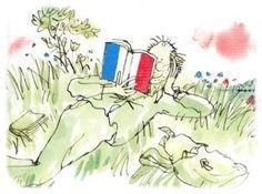 © Quentin Blake, from Promenade de Quentin Blake au pays de la poésie française  from Library Mice
